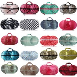 Wholesale Bra Travel Case Wholesale - 3D Bra Storage Bag for Women Colorful Undewear Protect Case Travel Storage Bags 32 Colors Wholesale