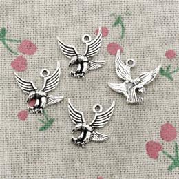 Wholesale Hawk Bracelet - 70pcs Charms eagle hawk 20*20mm Antique Silver Pendant Zinc Alloy Jewelry DIY Hand Made Bracelet Necklace Fitting