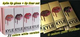 Wholesale Gold Charm Wholesalers - 49 Colors Kylie Lip Gloss Lipstick Kylie Jenner lip Kit & Lipliner lipgloss liquid lipstick matte kylie gold Charm Harmony Rosie Dazzle