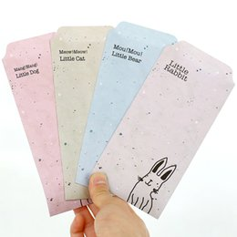 Wholesale Colored Paper Envelopes - Wholesale- (5 pieces lot) Drawing Animal Envelopes Cartoon Paper Colored Envelopes for Gifts