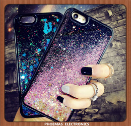 Wholesale Iphone Smart Cases - For Smart phone Quicksand Case For Iphone 7 7plus 3D Liquid Case glitter Soft TPU Floating Glitter LOVE Case For Samsung Galaxy