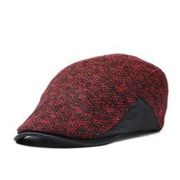 Wholesale Peaked Cap Leather - Wholesale-Autumn&Winter Fashion Gentleman octagonal cap newsboy beret hats peak beret Flat Caps for men brand cotton hats for women