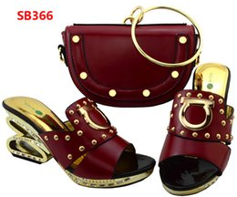 Wholesale Concrete Bricks - 2017 Latest design italian shoes and bags set to match high quality fashion style women shoes!