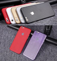 Wholesale Sticker Wrapping Film White - Luxury 360 Degree Full Body Decal Skin Carbon Fiber Film Phone Protective Sticker Wrap Phone Case For iPhone 6S 6 5S SE Plus