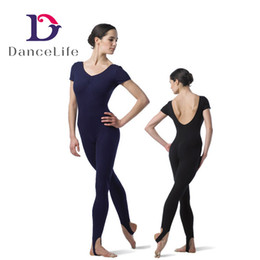 Wholesale Children Dance Wear Shorts - Free shipping wholesale Child short sleeve unitard with low back C2616 ballet dance unitards unitards for dance discount gymnastic wear