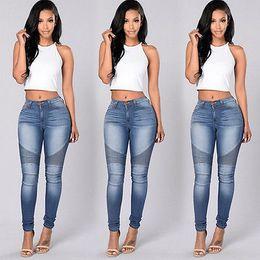 Wholesale new high waist jeans - Wholesale- New Sexy Women Denim Skinny Pants High Waist Stretch Jeans Slim Pencil Trousers Wholesale Worldwide