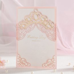 Wholesale Invitations Printing Cards Wholesale - Hot Selling Wedding Invitations Cards Free Personlized Print Laser Cut Hollowed Elegant Wedding Invites Favors Dropship