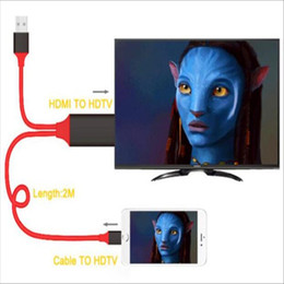 Wholesale Hd Cable Mini - For iphone 5 5c 5s 6 6plus 6s 6s plus 7 7plus All the ipad and ipad mini series HDMI Cable 1080P HD TV AV TV Adapter 2M iphone HDMI Cable