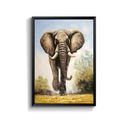 Wholesale Elephant Oil Canvas Painting - Elephant Canvas Painting Household Adornment With Frame For Home Decoration  For Wall Decoration Modern Painting Wall Decor