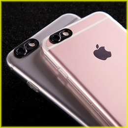 Wholesale Camera Phone Case Iphone - For iPhone 7   6s Phone Case Camera Framed TPU Transparent Mobile Phone Case Soft Case with Opp Package Free Shipping