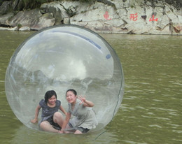 Wholesale Inflatables Walk Water - 2m Clear Inflatable Water Walking Ball Human Hamster Ball Zorb Balloon Water Rolling Ball For Sale