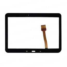 Wholesale Mix Tabs - Touch Screen Digitizer Glass Lens with Tape for Samsung Galaxy Tab 4 10.1 T530 T531 free DHL