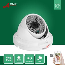 Wholesale Led Cmos Camera - ANRAN HD CCTV 1200TVL Sony CMOS IMX138 Sensor 48 IR Outdoor Waterproof Security Dome Camera With IR-Cut