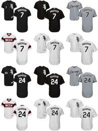 Wholesale Cheap Kids Factory - Factory Outlet Mens Womens Kids Chicago White Sox 7 Tim Anderson 24 Matt Davidson White Black Grey Cheap Cool Flex Base Baseball Jerseys