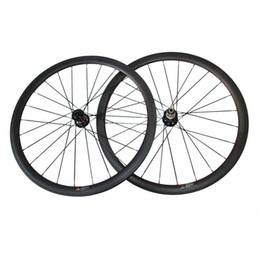 Wholesale Bike Carbon Wheels Sale - Hot Sale 38mm Clincher 25mm Width Carbon Cyclocross Bike Wheels 6 bolt Carbon Wheelset Thru Axle or Standard Quick Release Disc Brake Wheels