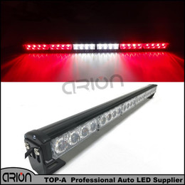Wholesale Strobe Emergency Vehicle Lights Red - 12V 24 LED High power Led strobe light long bar Red White flash lamp warning Emergency Vehicle Lights Free Shopping