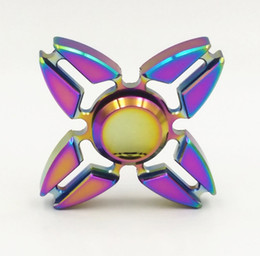 Wholesale New Design Tips - Fidget Spinners Hand Spinner Colorful Rainbow Crab Heavy Alloy Metal Design Handspinner Spinner Decompression Tip Tops Toys 2017 New