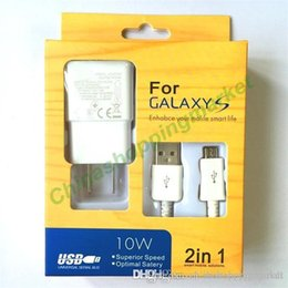 Wholesale Iphone Docking Kit - Quick Charge Top 2 in 1 EU US Plug Adaptive Wall Charger Kits USB 2.0 Data Sync Cable For Samsung Galaxy S4 S5 S6 S7 edge Note Android #7
