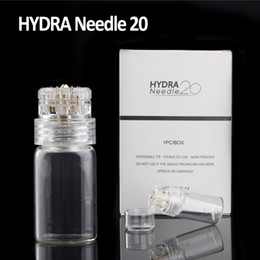 Wholesale color stamps - Mesotherapy Hydra Needle Gold Titanium 20 needles Derma Stamp Serum Applicator Tappy Tok Tok