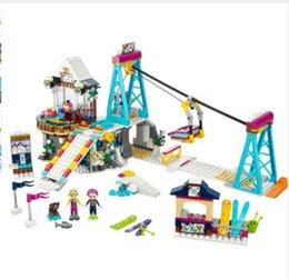 Wholesale Enlighten Girls - New Lepin girl friends 01042 632PCS Snow Resort Ski Lift FRIENDS 41324 Enlighten Building Blocks Bricks Toys for Girls Gifts