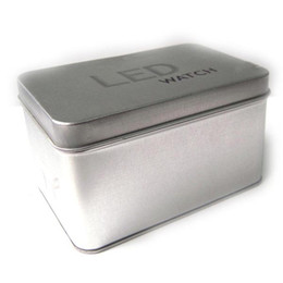 Wholesale Square Gift Tin Box - Wholesale-Low Price Hot Sales Square Watch Box Paper Tin Plate Watch Case Gift Box for Watch