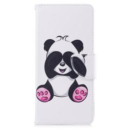 Бумажные кошельки онлайн-Для Samsung Примечание 8 S8 плюс крышка окрашены PU кожаные чехлы флип бумажник карты Panda дизайн телефон сумки