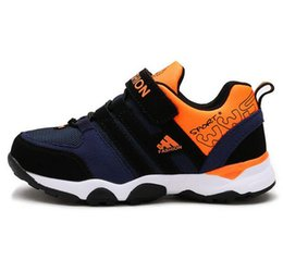 Wholesale Girl Spells - Children Sneakers 2017 Autumn New Spell Color Breathable Mesh Girls Boys Sport Shoes Wear Non-Slip Casual Kids Running Shoes G468