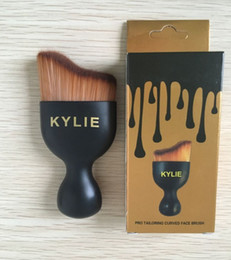 Wholesale Boxed Blush - 2017 HOT Kylie Brushes for Makeup sets Blush toothbrush Cosmetic Foundation BB Cream Powder Tools Black gold box kylie jenner brush