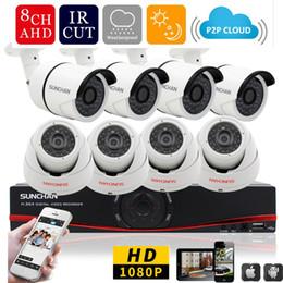 Wholesale Dvr 8ch 8pcs - 8CH CCTV System 1080P HDMI AHD 8CH DVR 8PCS 2.0 MP IR Outdoor Security Camera 3000TVL Camera Surveillance System