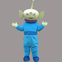 Wholesale Alien Carnival Costumes - Cute Alien Mascot Monster Costume Fancy Party Dress Halloween Carnival Costumes Adult Size High Quality free shipping