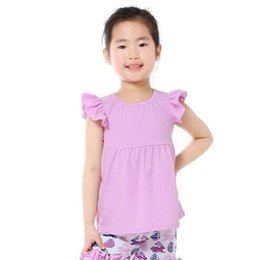 2017 vêtements les plus récents Les plus récents T-shirt Enfants Girl Shirt Bébés filles Angela Sleeve Tee Eté Cotton Baby Girls vêtements Cute Children Haut de la page