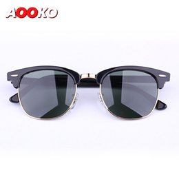 Wholesale Pops Fashion Sunglasses - AOOKO Pop Club Fashion Sunglasses Men Sun Glasses Women Retro Green G15 gray brown Black Mercury lens New Hinge 49mm 51mm