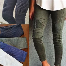 Wholesale Vintage Waist - Wholesale- NEW Women Popular Cotton Slim Pants Colorful Denim Jeans Pencil Skinny US STORE