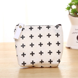 Wholesale Coin Blanks Wholesale - Wholesale free shipping Blank Canvas Coin Purse Ladies Cheapest Classic Retro Small Change Coin Purse canvas purse