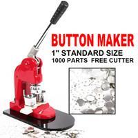 "Wholesale Button Badge Machine Maker - 1"" 25mm Button Maker Badge Punch Press Machine +Free 1000 Parts +Circle Cutter"