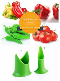 corer de tomate Desconto Chili tomate corers Fruit Vegetable corer Nórdica Criativo Cozinha gadgets Tem 2 estilos de tamanho 2 pçs / set
