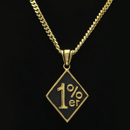 Wholesale Personalized Dog Jewelry - Mens Necklaces 18k Gold Plated %1 Dog Tag Personalized Design Hip Hop Men Jewelry Long Maxi Chains Punk Rock Micro Vintage Pendant Necklace