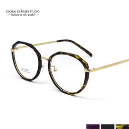 Последняя Тенденция Ретро Круглые Очки Рамка Ультра-Легкая Металлическая Рамка Очки Для Чтения Рецепт Очки 2640 от Поставщики круглые очки для рецепта