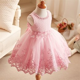 Wholesale Mermaid Style Flower Girls Dress - Fashion Spring Summer Girls Princess Dresses Wedding Dress Girl Flower Lace Dress Children Birthday Party Tutu Skirt