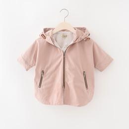 Wholesale Half Jackets Girls - Everweekend Girls Zipper Lion Head Half Sleeve Tops Western Fashion Autumn Jacket Outwears Lovely Baby Clothing