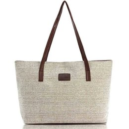 Wholesale Women S Tote Wholesale - Wholesale-Women Handbag Canvas Shoulder Bags Appliques Portable Bag Large Capacity Lady Shopping Casual Totes 2016 Summer Style S-48