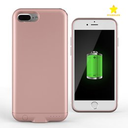 Wholesale Thin Magnetic Case Iphone - 3000Mah 4000Mah Power Bank Case Mobile Phone External Battery Case Magnetic Ultra Thin Backshell Whireless Charge Case for iPhone 7 Plus