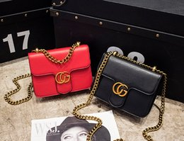 Wholesale Plain Phone Covers - New women chain single shoulder messenger hand bag female evening bag black red green rose red color no47