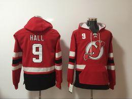 Wholesale Elias Jersey - New Jersey Devils hoodies 9 Taylor Hall 14 Adam Henrique 26 Patrik Elias 30 Martin Brodeur Red Ice Hockey Hoody Sweatshirts red green