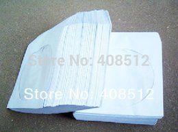 Wholesale Blank Cds Dvds Wholesale - Wholesale- Blank white CD envelope DVD sleeve with clear pvc window