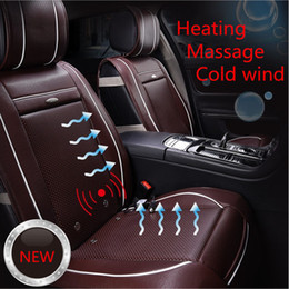 Wholesale Luxury Cover Seats - XA038 Luxury Car Front Seat Covers Heating Massage Air-conditioned Smart Car Seat Cushion Four Seasons Car Seat Cover