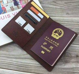 Wholesale Travel Wallets Passport Holders - Women leather passport cover brand credt card holder men business travel passport holder wallet covers for passports carteira masculina
