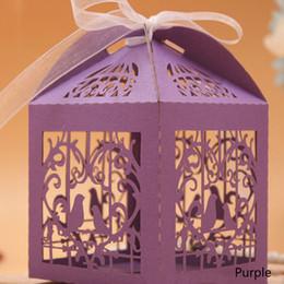 2020 papierschneidvögel 50 stücke Liebe Vögel Hochzeit Pralinenschachtel Kreative Laserschneiden Hohl Geschenk Papierschachteln Schokolade Karton Hochzeit Liefert Geschenk-boxen rabatt papierschneidvögel