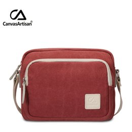 Wholesale Womens Small Canvas Messenger Bags - Wholesale- 2016 top quality hangbags mens womens bag practical crossbags canvas solid messenger bags crossbody small shopping bag