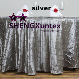 Wholesale Purple Cloth Tablecloths - Factory Price Taffeta Pintuck Table Cloth \ Wedding Tablecloth Free Shipping